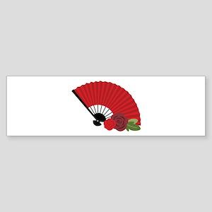 Spanish Asian Flamenco Folding Fan Bumper Sticker