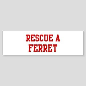 Rescue Ferret Bumper Sticker