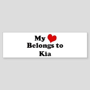 My Heart: Kia Bumper Sticker