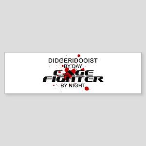 Didgeridooist Cage Fighter by Night Sticker (Bumpe