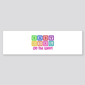 BABY GIRL ON THE WAY Bumper Sticker