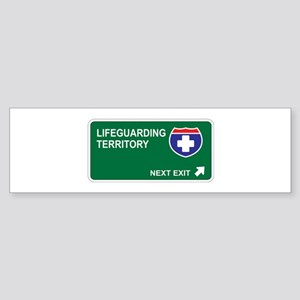 Lifeguarding Territory Bumper Sticker