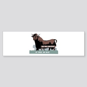 Durham NC Bull Bumper Sticker