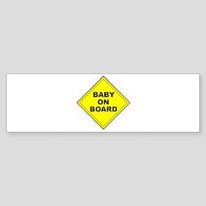 """""""Baby On Board"""" Bumper Sticker"""