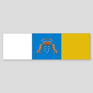 Canary Islands flag Bumper Sticker