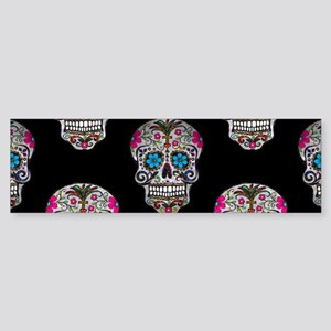 sequin Sugar Skulls Bumper Sticker