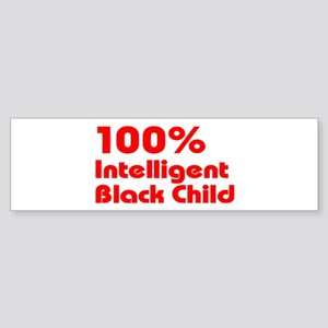 100% Intelligent Black Child Sticker (Bumper)