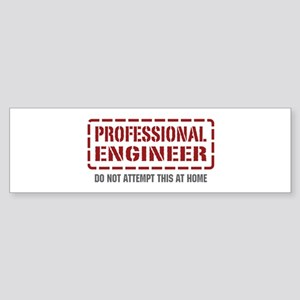 Professional Engineer Bumper Sticker
