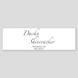 Ducky Shincracker Basic White Bumper Sticker