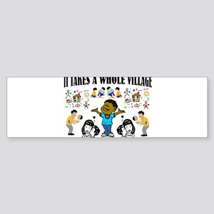 Childrearing Black children Bumper Sticker