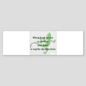 Reptile Dysfunction Bumper Sticker
