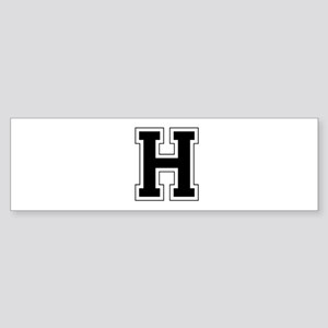 Collegiate Monogram H Bumper Sticker
