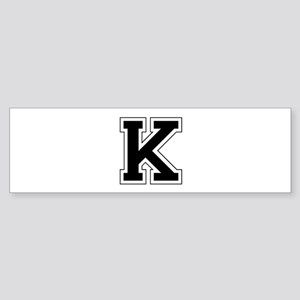 Collegiate Monogram K Bumper Sticker