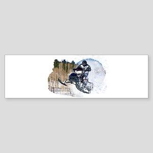 Airborne Snowmobile Bumper Sticker