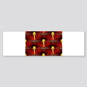 christmas story leg lamp Bumper Sticker
