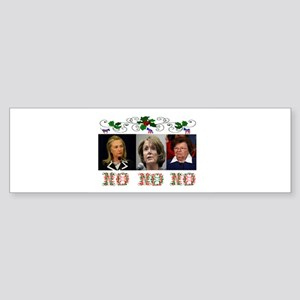 DEMOCRATS XMAS Sticker (Bumper)