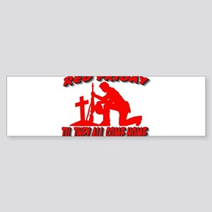 red friday prayer Sticker (Bumper)