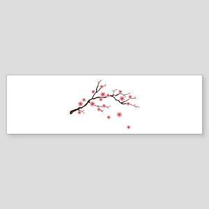 Cherry Blossom Flowers Branch Bumper Sticker