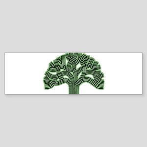 Oakland Tree Hazed Green Sticker (Bumper)