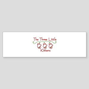 Three Little Kittens Bumper Sticker
