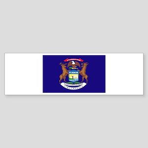 Flag of Michigan Sticker (Bumper)