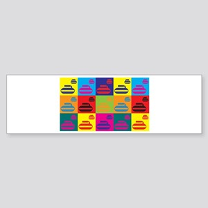 Curling Pop Art Bumper Sticker