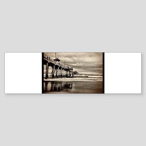 Huntington Beach CA Pier Bumper Sticker