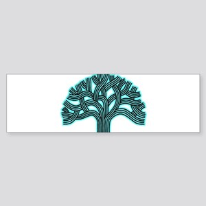 Oakland Tree Hazed Teal Sticker (Bumper)