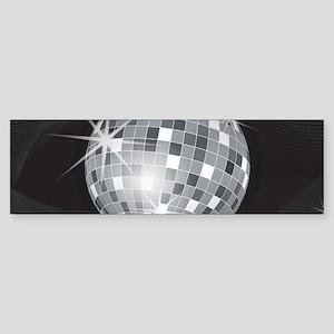 silver disco ball Bumper Sticker
