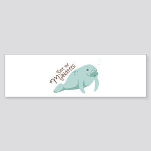 Save The Manatees Bumper Sticker