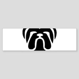 bulldog tribal Bumper Sticker
