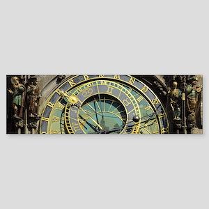 Prague Astronomical Clock Tower in Bumper Sticker