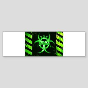 Green Bio-hazard Bumper Sticker