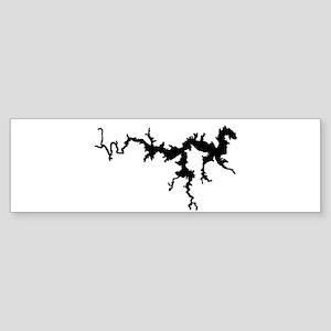 DRAGON {1 black} solid Sticker (Bumper)