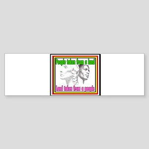Black American Native American Bumper Sticker