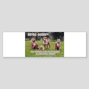 Obediance bumper sticker