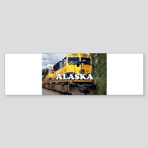 Alaska Railroad engine locomotive 2 Bumper Sticker