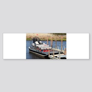 Florida swamp airboat Bumper Sticker