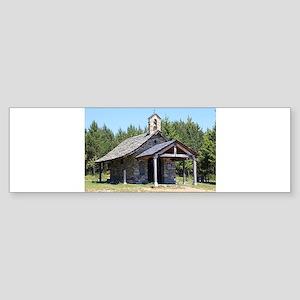 El Camino, church at Cruz de Ferro Bumper Sticker