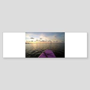 Paddle sunset Bumper Sticker