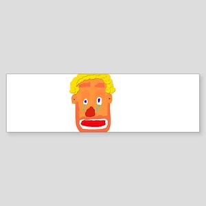 Sad Clown Bumper Sticker