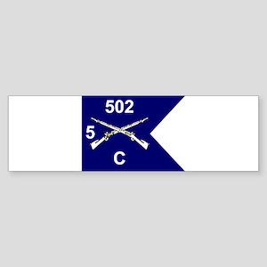 C Co. 5/502nd Bumper Sticker