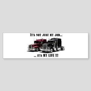 Trucker - it's my life Sticker (Bumper)
