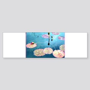 Water Lilies, colorful, Sticker (Bumper)