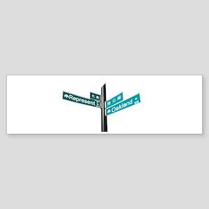 Corner of Represent and Oakla Sticker (Bumper)