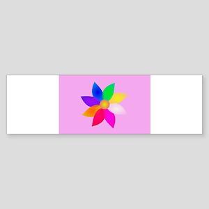 Simple Flower Art Pink Bumper Sticker