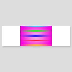 Basic Stripes Fuchsia Bumper Sticker