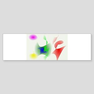 White Background Bumper Sticker