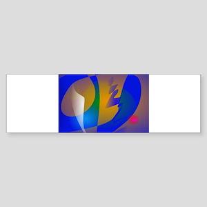 Striking Blue Abstract Art Bumper Sticker