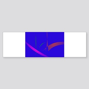 Simple Blue Abstract with Slashing Colors Bumper S